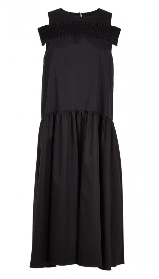Tibi Smocked Off-the-Shoulder Dress