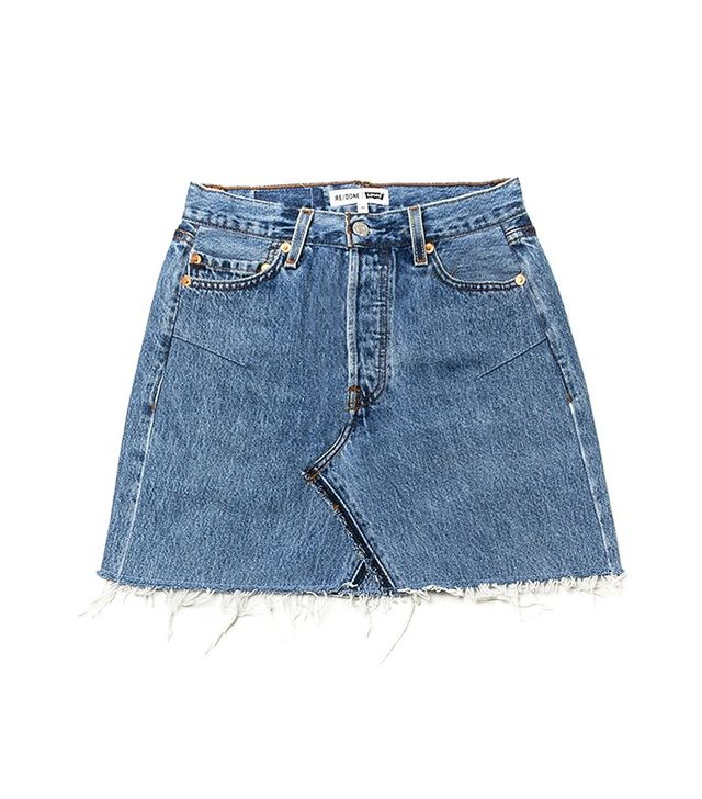 Re/Done | Levi's High Rise Mini Skirt