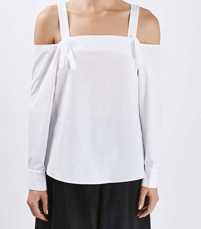Topshop Off-the-Shoulder Shirt