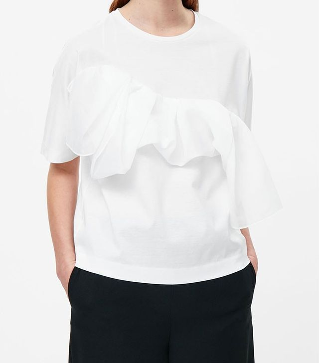COS Top With Ruche Detail