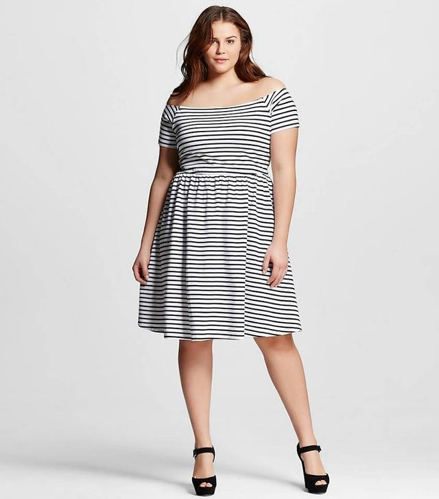 Who What Wear Knit Bardot Dress