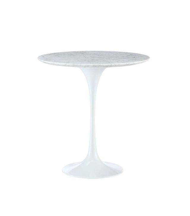 Poly & Bark Marble Eero Saarinen Tulip Style Side Table