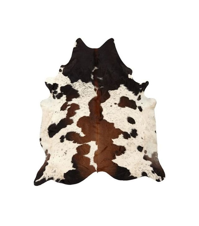 PB Teen Black and Brown Spotted Cowhide Rug