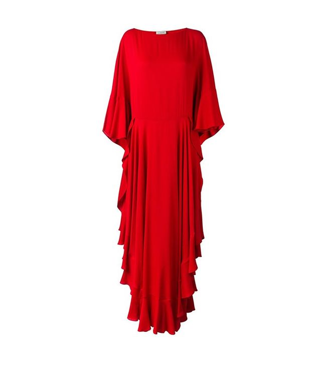 Lanvin Ruffle Design Maxi Dress