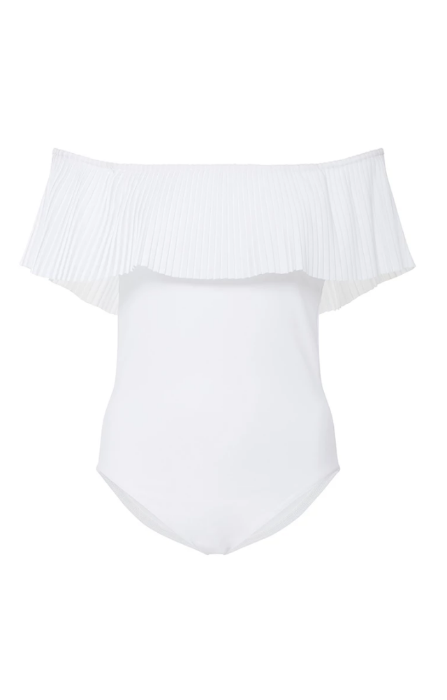 Karla Colletto Josephone Off-the-Shoulder One Piece