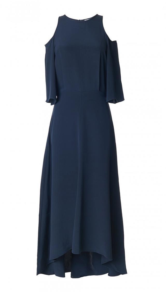 Tibi Silk Cut Out Dress