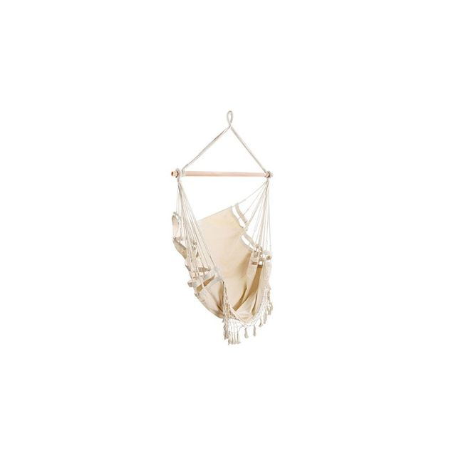 i.Life Creamy White Hanging Hammock Chair