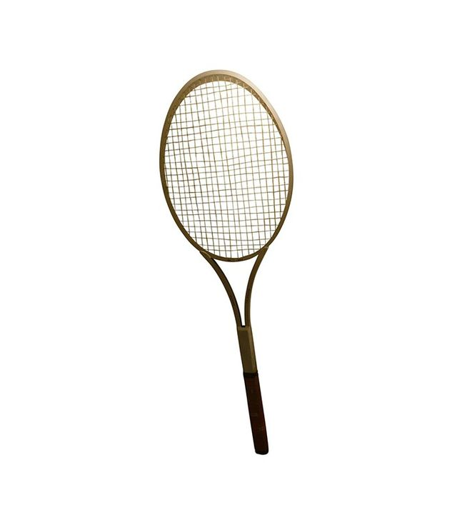 Vintage Rare Giant Big Tennis Racket in Aluminum and Leather