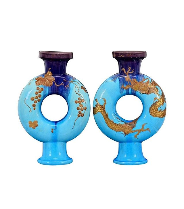 Vintage French Modernist 19th Century Chinoiserie Vases
