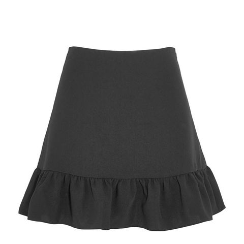 Piper Ruffled Crepe Mini Skirt