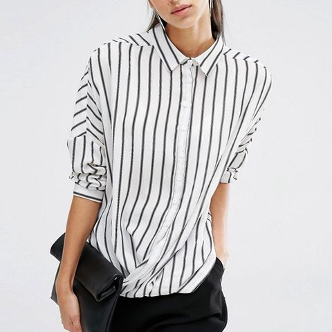 Relaxed Wrap Front Shirt