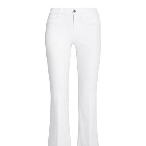 Marrakesh Cropped Mid-Rise Flared Jeans