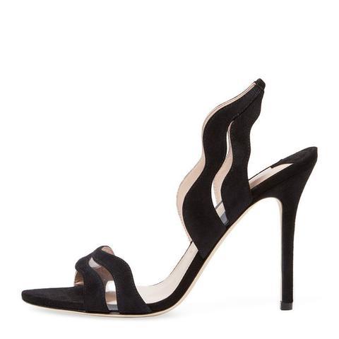 Emanuelle Suede Slingback Sandals