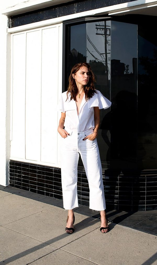 9. There's a world beyond simple white button-down shirts. Opt for styles with an interesting detail instead. 