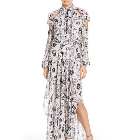 Ashley Cutout Print Maxi Dress