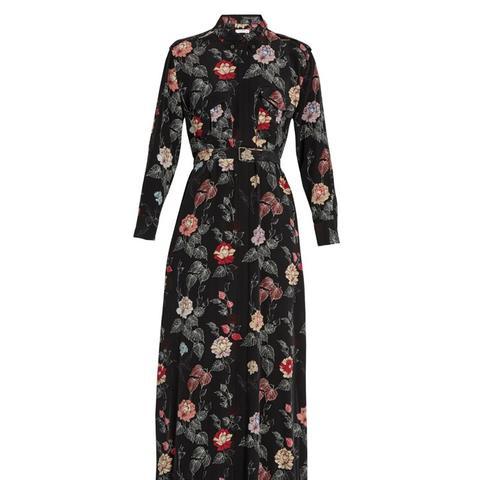 Major Floral-Print Silk Maxi Dress