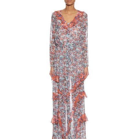 Izzie Floral-Print Silk-Georgette Dress