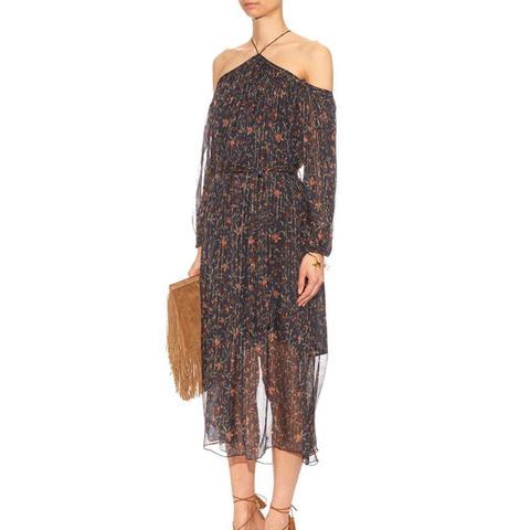 Havoc Floral-Print Silk Dress