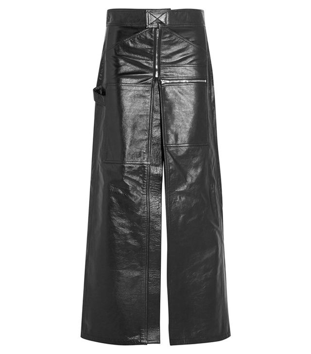 Vetements Glossed-Leather Maxi Skirt