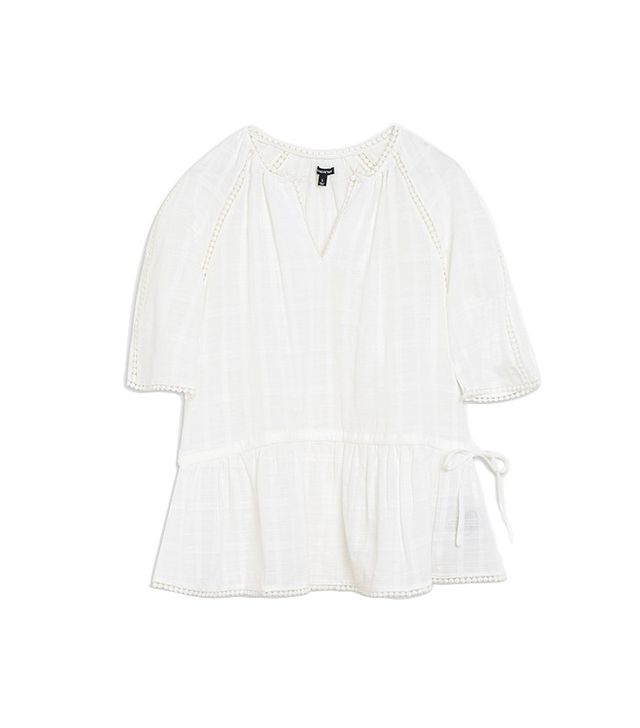 Who What Wear Drawstring Top With Lace