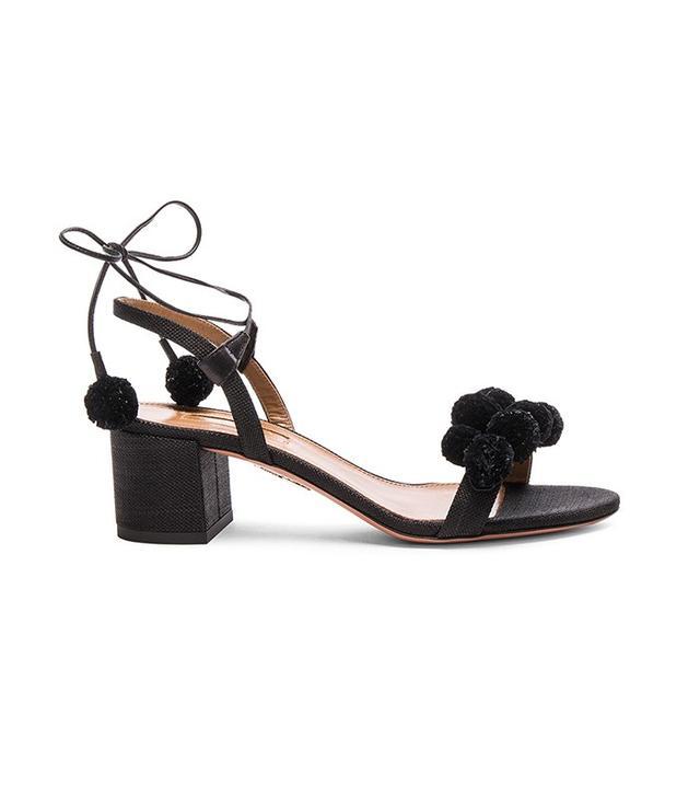 Aquazzura Pom Pom Sandals