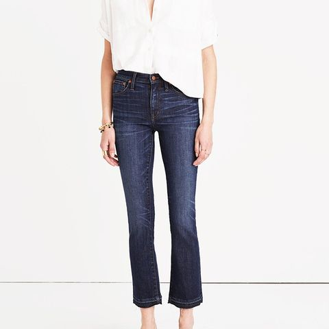 Cali Demi-Boot Jeans in Mitchell Wash: Drop-Hem Edition