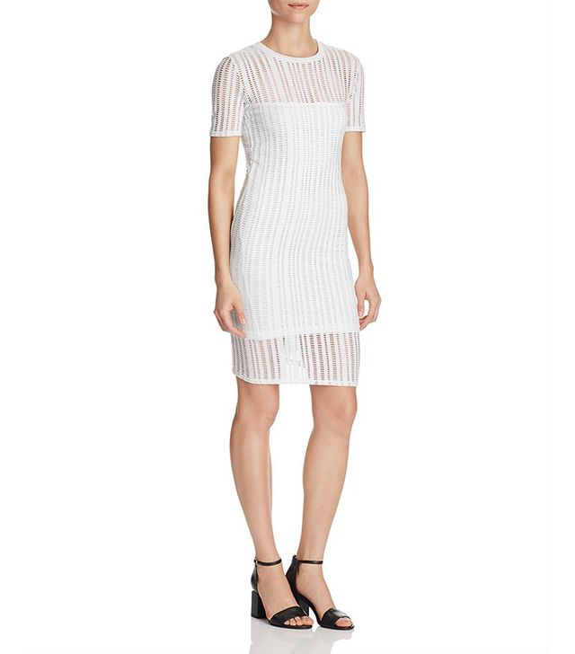 T by Alexander Wang Perforated Jersey Dress