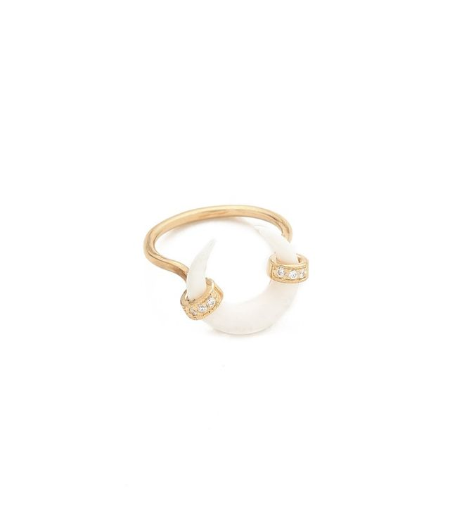 Jacquie Aiche Bone Double Horn Ring