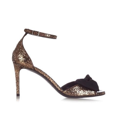 Jane Bow-Detail Glitter Sandals