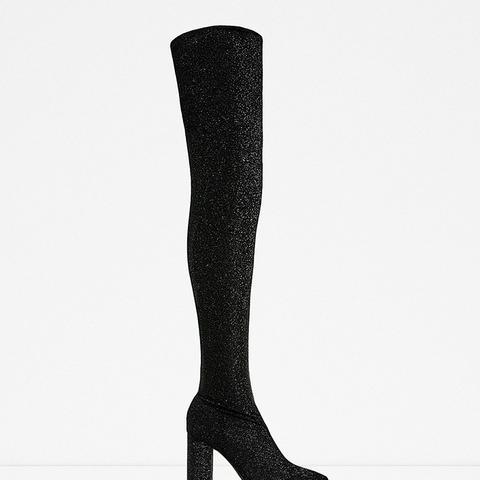 Over-the-Knee High Heel Boots