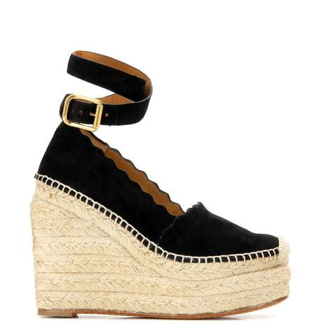 Lauren Suede Wedge Espadrilles