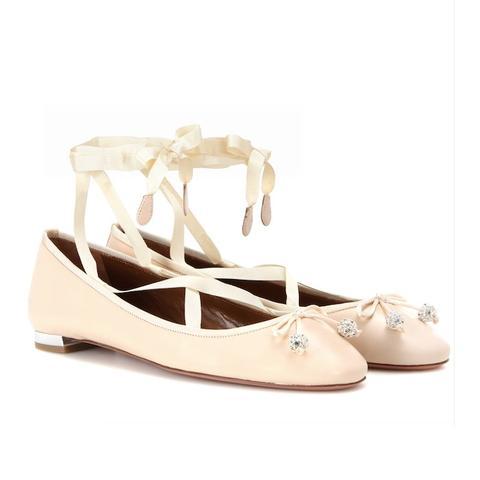Very Ballerina Flat Lace-Up Leather Ballerinas