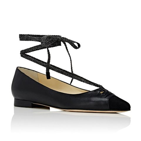 Lily Ankle-Tie Flats