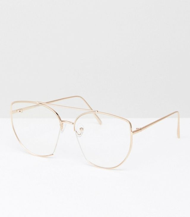 ASOS Geeky Glasses With Clear Lens