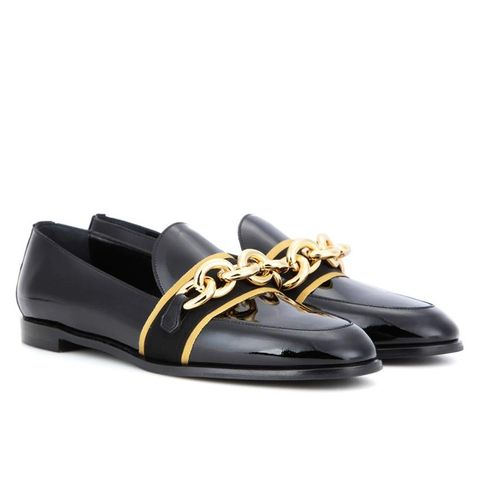 Embellished Patent Leather Loafers