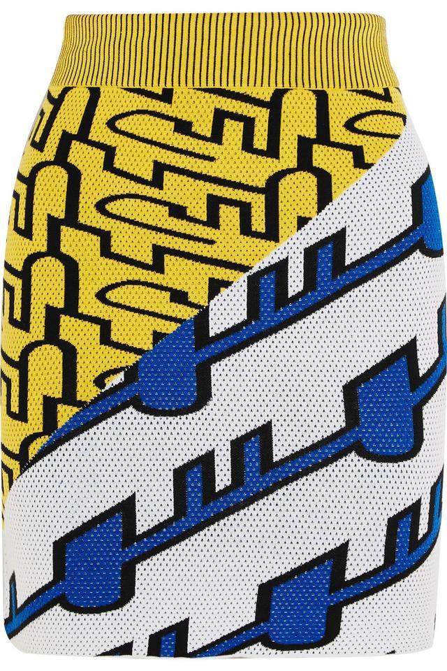 Kenzo Intarsia Silk Skirt
