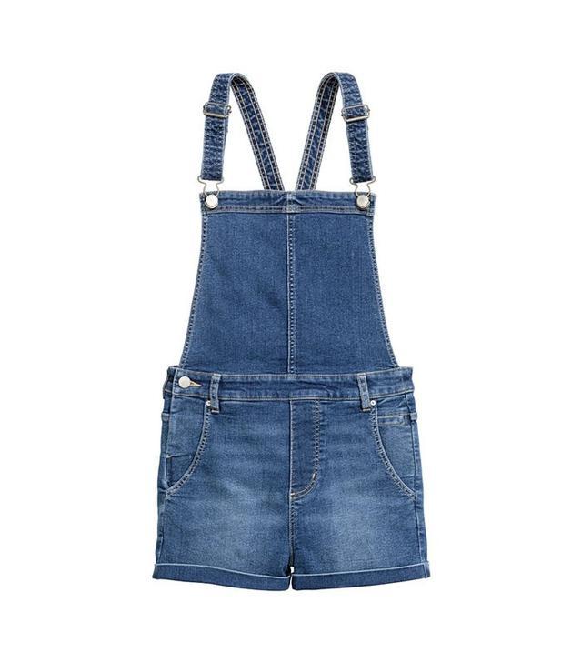 H&M Denim Bib Overalls Shorts