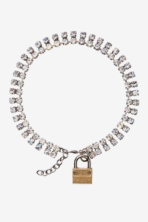 Rodarte Double Crystal Padlock Necklace