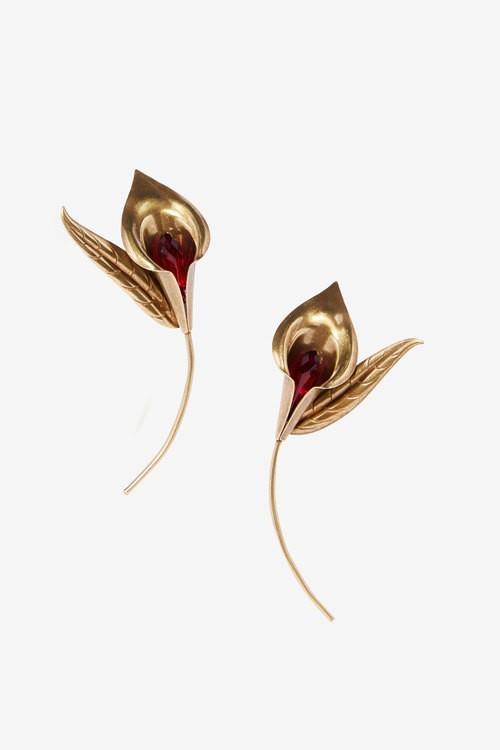 Rodarte Honey Brass Lily Earrings