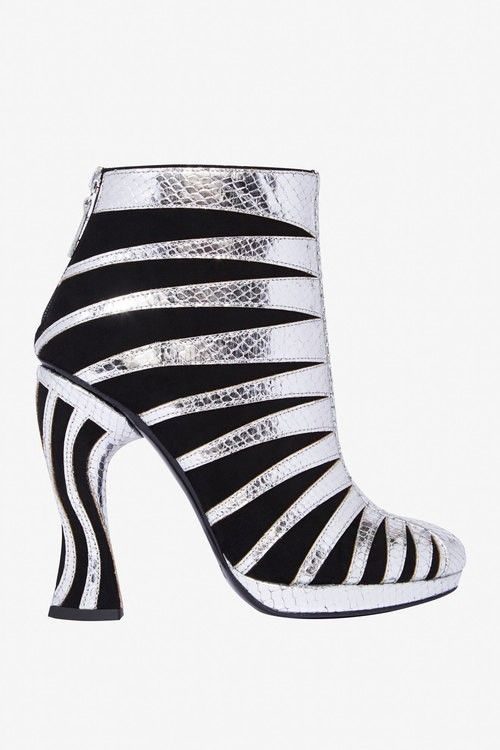 Rodarte Black and Silver Booties