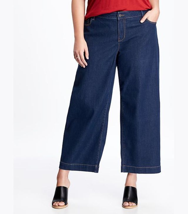 Old Navy High-Rise Plus-Size Denim Culottes