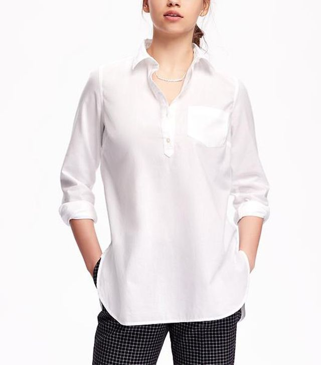 Old Navy Classic White Popover Tunic