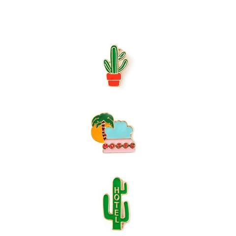 Cactus Enamel Pin Set