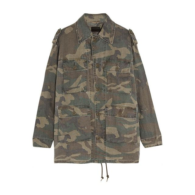Saint Laurent Camouflage Ramie Jacket