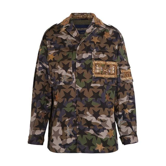 Valentino Embellished Camouflage