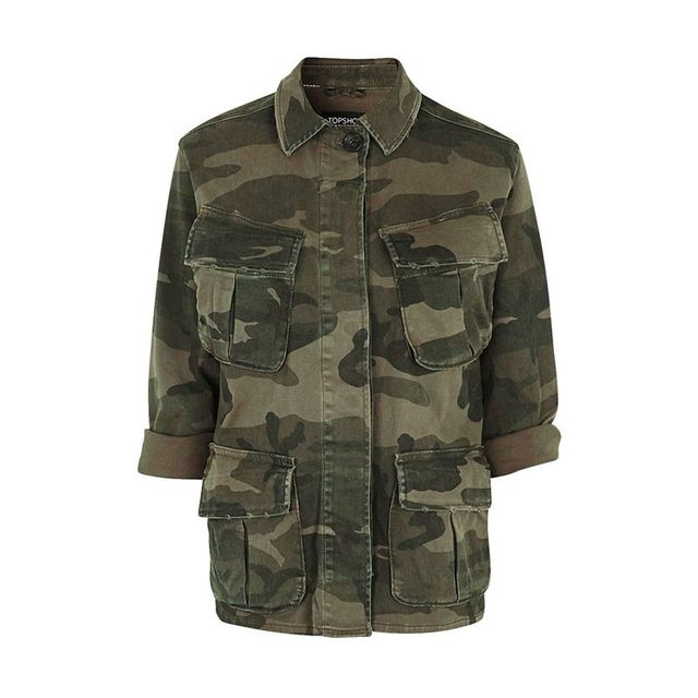 Topshop Oversized Camo Shacket