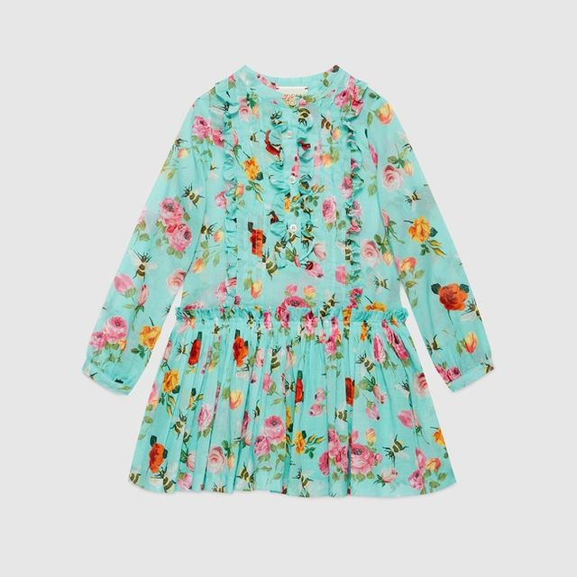 Gucci Children's Roses and Bees Dress