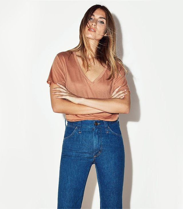 Reformation Flax Relaxed V-Neck Tee