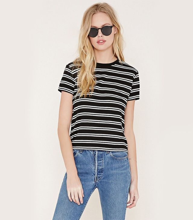 Forever 21 Boxy Stripe Tee