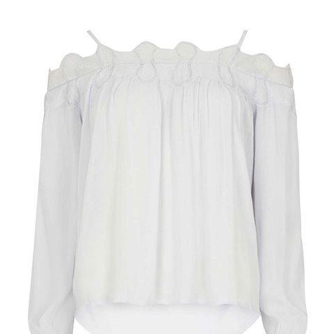 White Off Shoulder Blouse